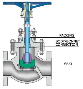 Inside View of Globe Valve
